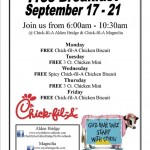 Free Breakfasts At Chick-fil-A