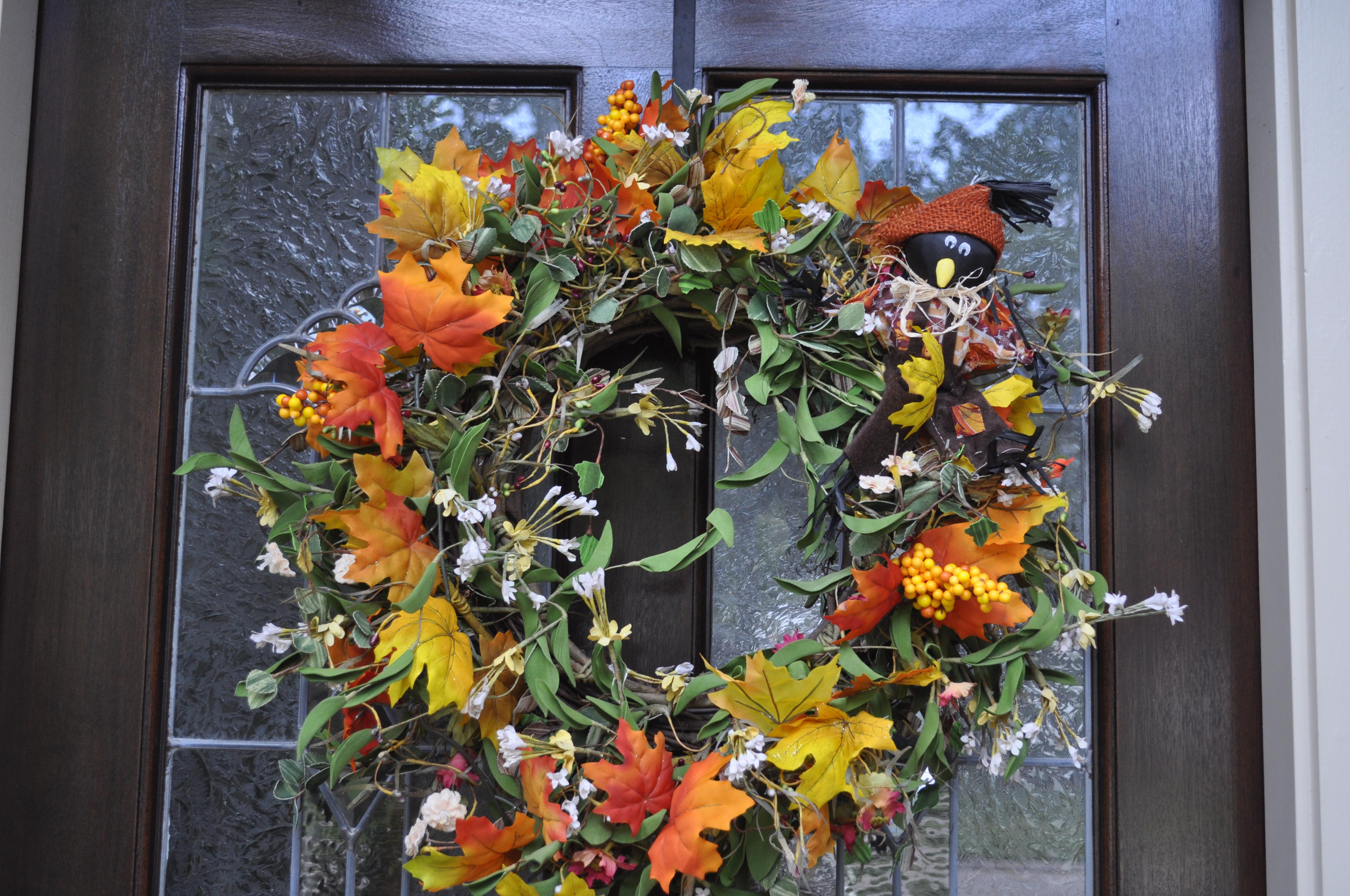 Diy cheap fall wreath makeover