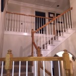 Stair Railing Renovation In Progress