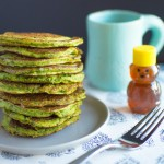 Recipe:  Hearty Spinach Pancakes with Tart Berry jam