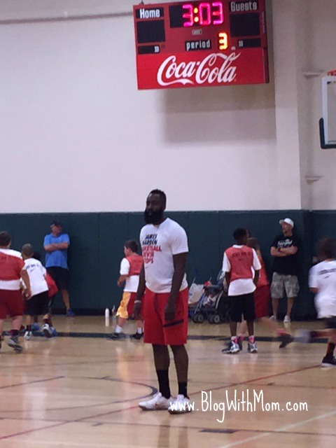 9d2659ad10f Here s the man himself… James Harden of the Houston Rockets Basketball  Team. He attended the camp and interacted with the campers throughout the  duration of ...