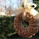 Bird Feeder Wreath Craft