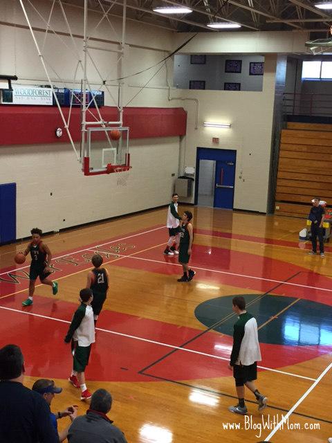 Travis basketball warmup