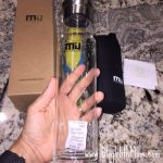 MiuColor.com Review:  Crystal Glass Water Bottle #Giveaway